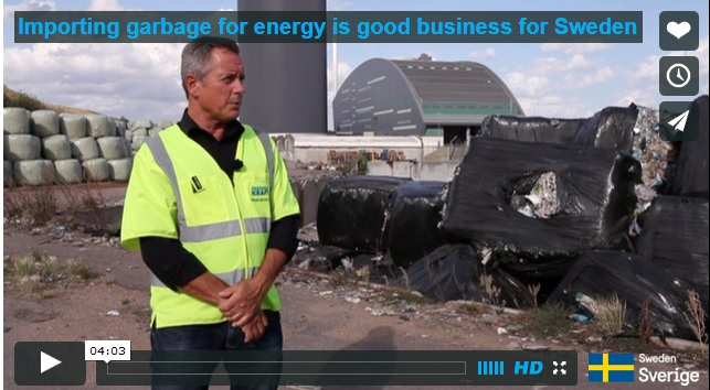 Importing garbage for energy is good business for Sweden from Sweden on Vimeo.