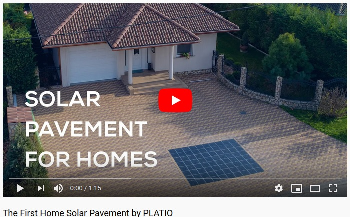 The First Home Solar Pavement by PLATIO